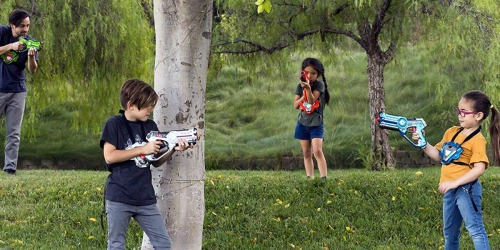 Set of Four Interactive Laser Tag Blaster Toys w/ Vests Only $64.99 Shipped (Regularly $200)