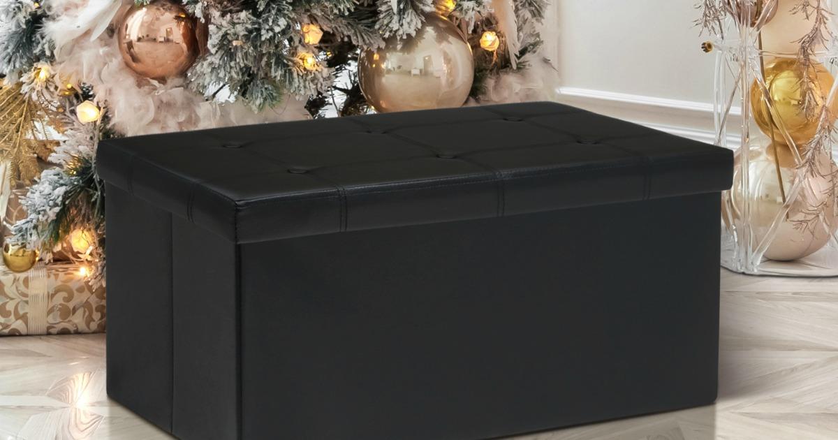 Memory Foam Folding Storage Ottoman Bench As Low As 26 99
