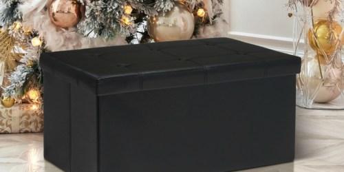 Memory Foam Folding Storage Ottoman Bench as Low as $26.99