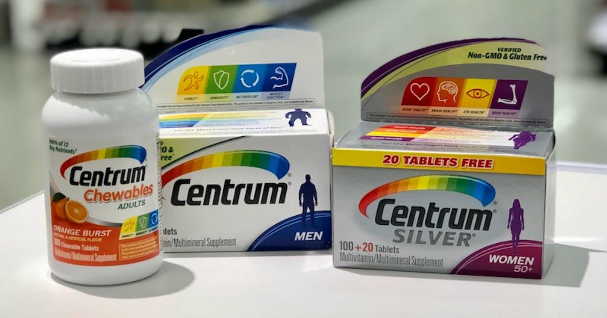 image regarding Centrum Coupon Printable called Large Relevance $4/1 Centrum Nutrients Coupon \u003d Simply just $2.76 at Walmart