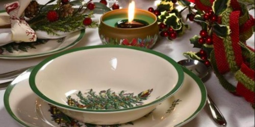 Up to 75% Off Christmas Dinnerware & Coffee Mugs at Macy's (Spode, Lenox, Pfaltzgraff & More)