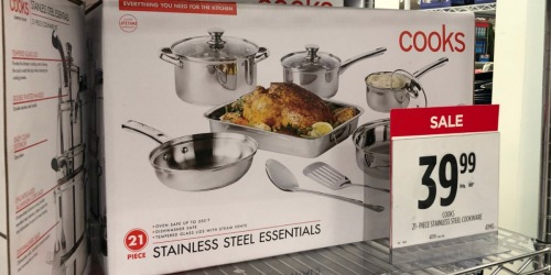 Cooks Stainless Steel 21-Piece Cookware Set Only $33.99 at JCPenney (Regularly $100)