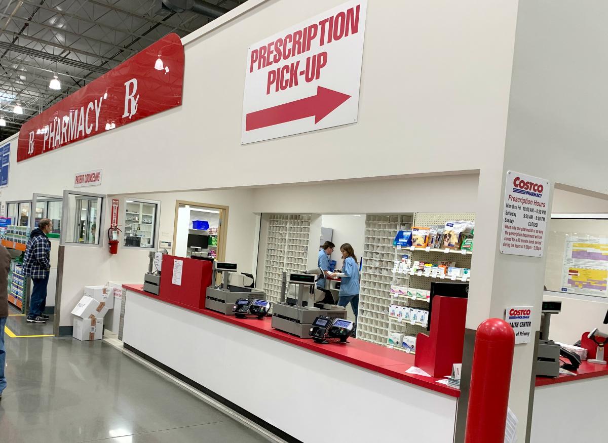 Costco Pharmacy prescription pickup window