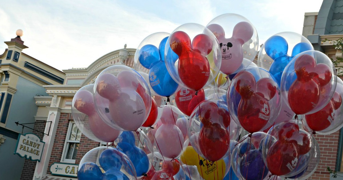 mickey mouse balloons at Disney World