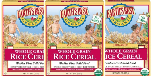 50% Off Earth's Best Infant Cereal & More on Amazon + Free Shipping