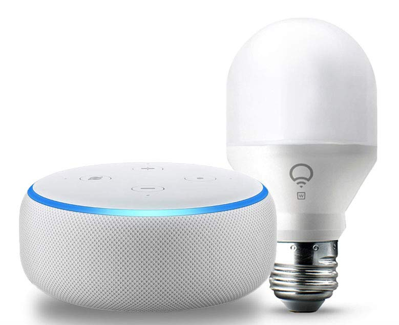 amazon echo dot 3rd generation and wi fi smart bulb just shipped regularly 75 hip2save. Black Bedroom Furniture Sets. Home Design Ideas