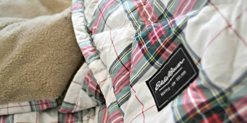 50% Off Eddie Bauer Purchase + Free Shipping = Oversized Down Throw $49.99 Shipped & More