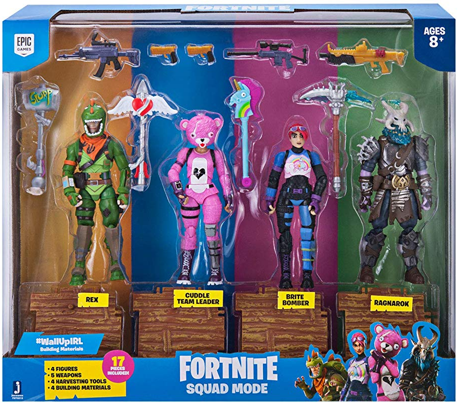 Amazon Fortnite Squad Mode Core Figures 4 Pack Just 39 99 Shipped