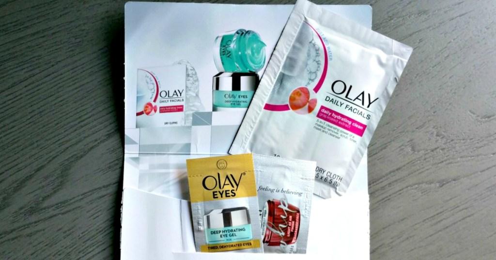 free olay samples