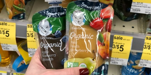 Over $5 Worth Of New Gerber Coupons = Baby Pouches as Low as 88¢ Each
