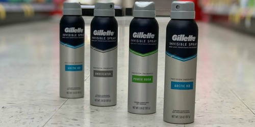 Gillette Invisible Spray Deodorant as Low as ONLY 9¢ Each at Walgreens  + More