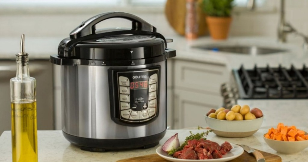 Gourmia 8 Quart Stainless Steel Pressure Cooker Just 4999 Shipped Regularly 100