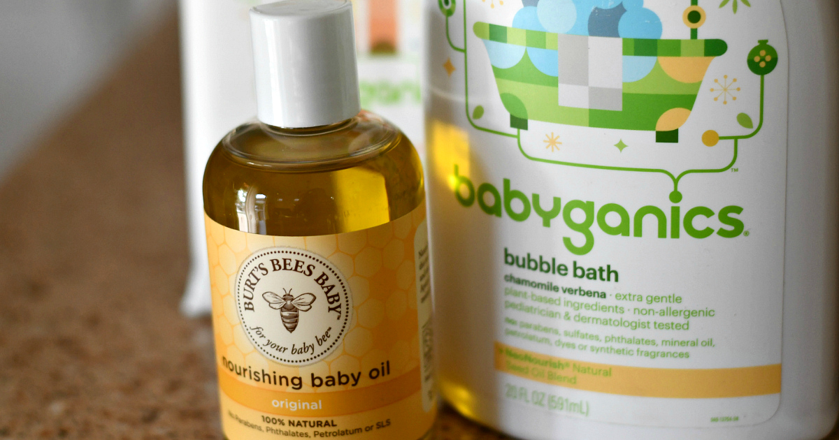 Grove Collaborative Baby Bundle – baby oil and bubble bath