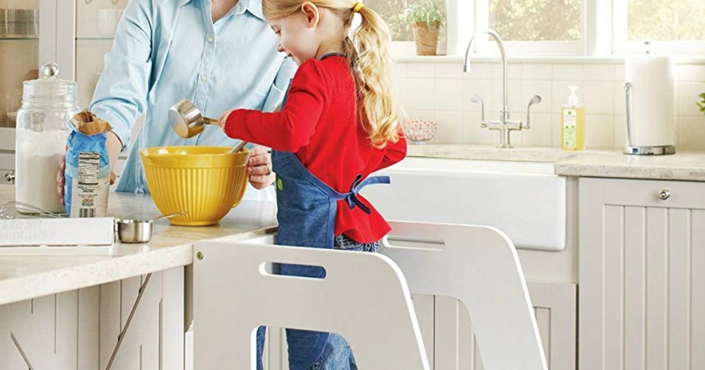 Guidecraft Step Up Kitchen Helper Stool Only 98 98 Shipped