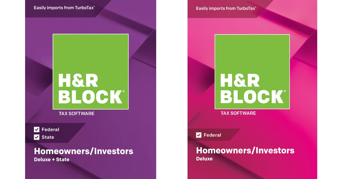 H/&R Block 2018 Homeowners//Investors Deluxe and State Federal and State software