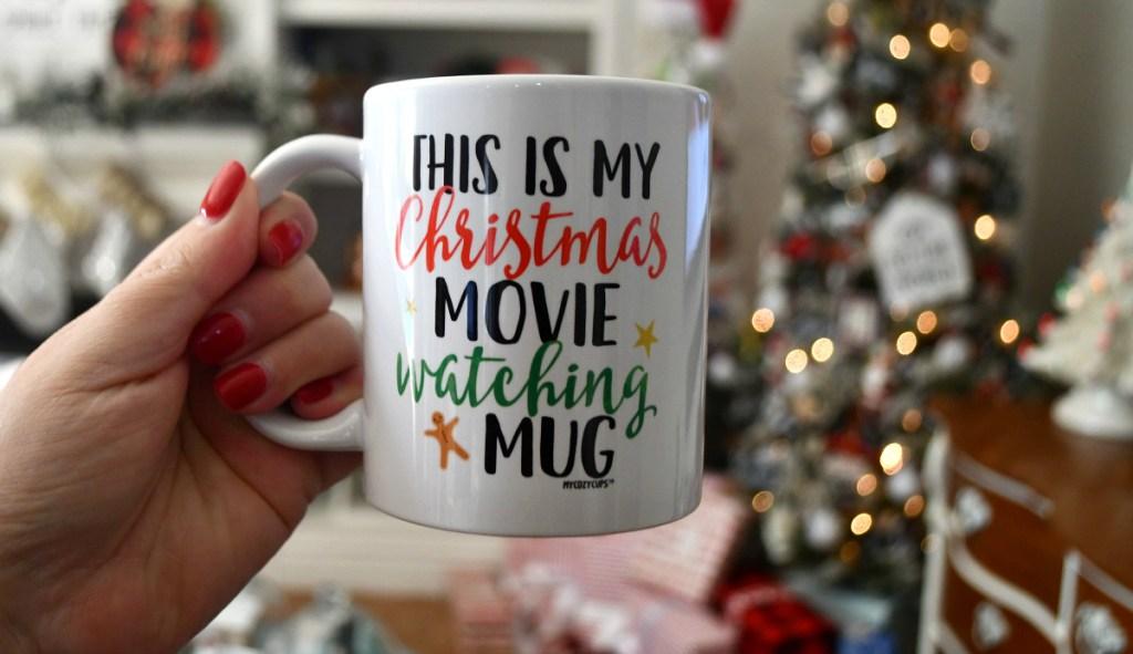 Hallmark Christmas movie watching mug