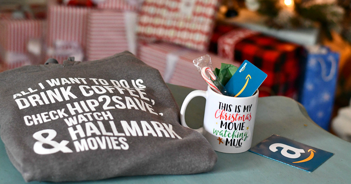 Enter to Win Christmas Bundle (Includes Cozy Hip2Save Sweatshirt, Mug, & $50 Amazon Gift Card!)