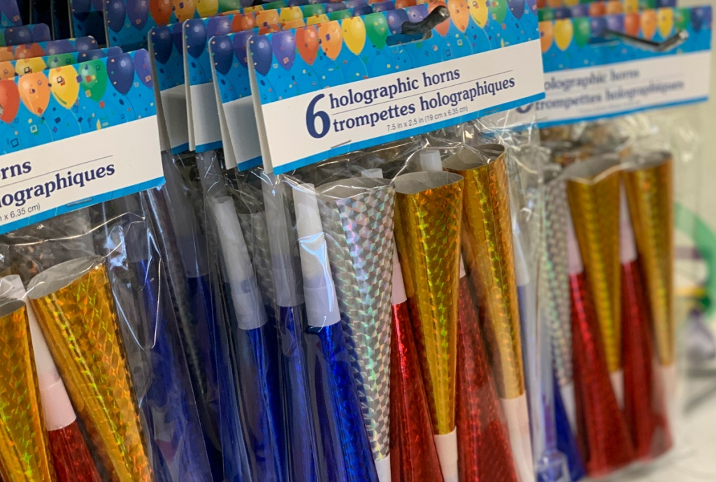Holographic Horns at Dollar Tree
