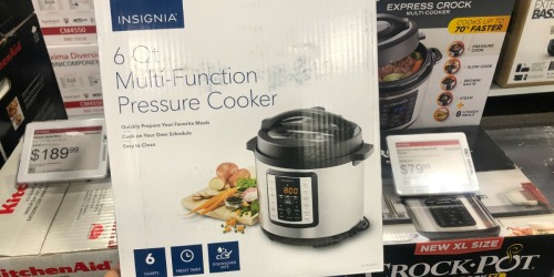 Insignia 6-Quart Multi-Function Pressure Cooker Only $29.99 (Regularly $100) at Best Buy