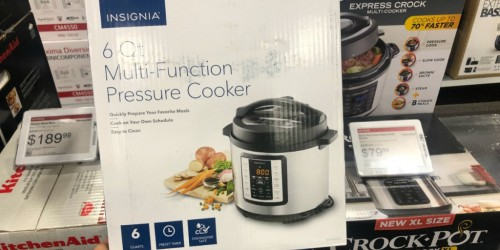 Insignia 6-Quart Multi-Function Pressure Cooker Only $29.99 Shipped (Regularly $100)