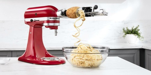 KitchenAid Spiralizer Attachment Only $49.99 Shipped (Comes w/ 4 Quick-Change Blades)