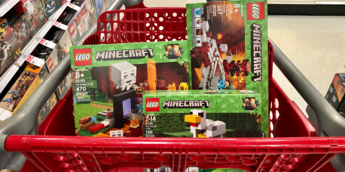 Over 45% Off LEGO Minecraft Sets After Target Gift Card + Free Shipping