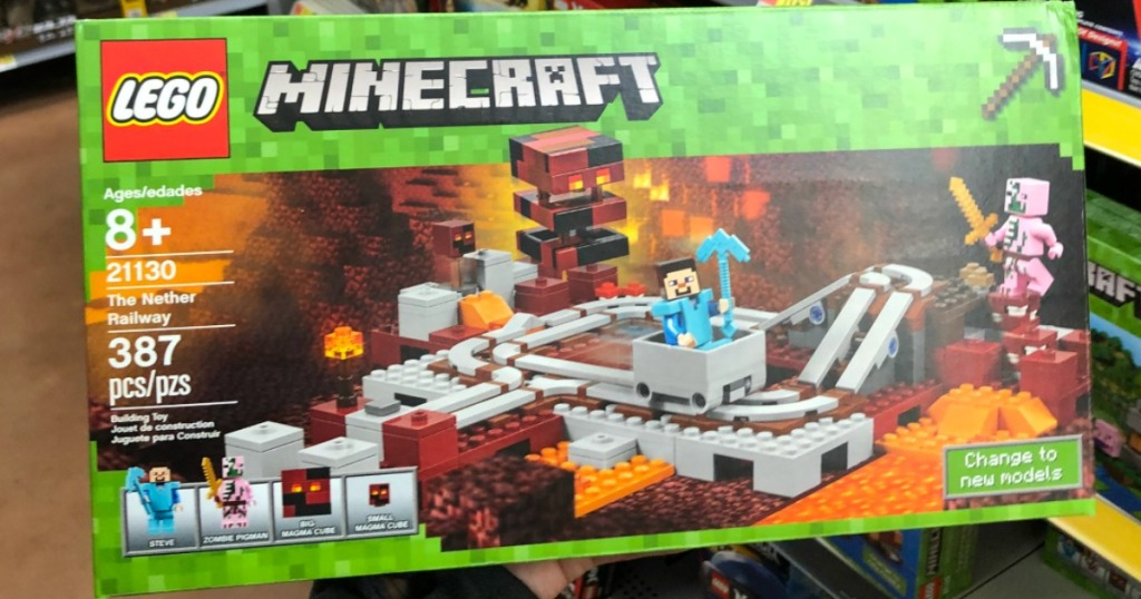 LEGO Minecraft The Nether Railway Set Only $16 99 (Regularly