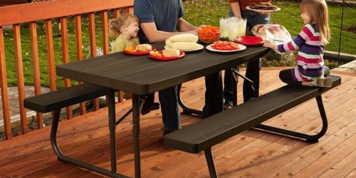 Lifetime Wood Grain Folding Picnic Table Only $115 Delivered (Regularly $165)