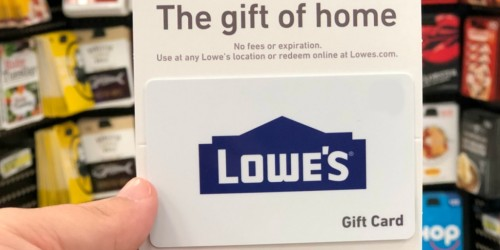 $100 Lowe's Gift Card Only $90 Shipped