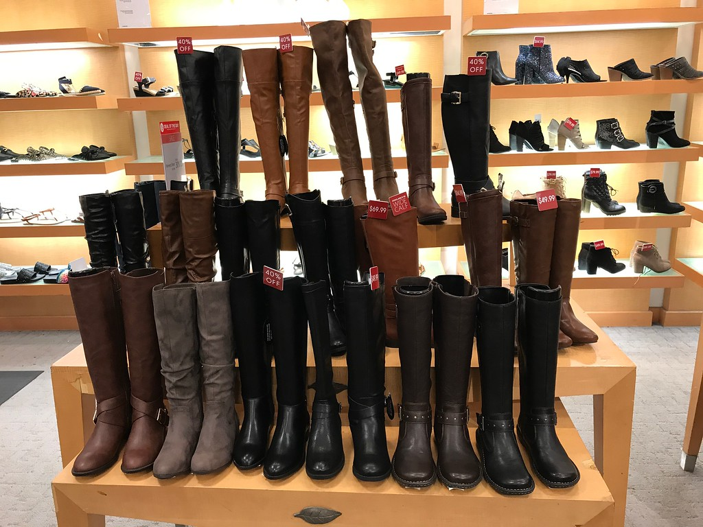 display of boots