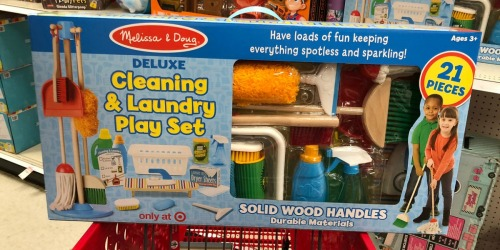 Melissa & Doug Deluxe Cleaning & Laundry Play Set Only $19.99 at Target (Regularly $80)