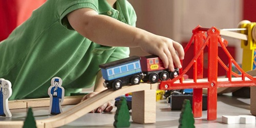 Melissa & Doug Deluxe Wooden Train Set Just $56.99 Shipped (Regularly $130)