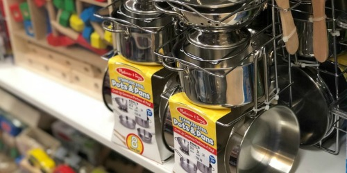 Melissa & Doug Stainless Steel Pots & Pans Kitchen Set Only $15.99 (Awesome Reviews)