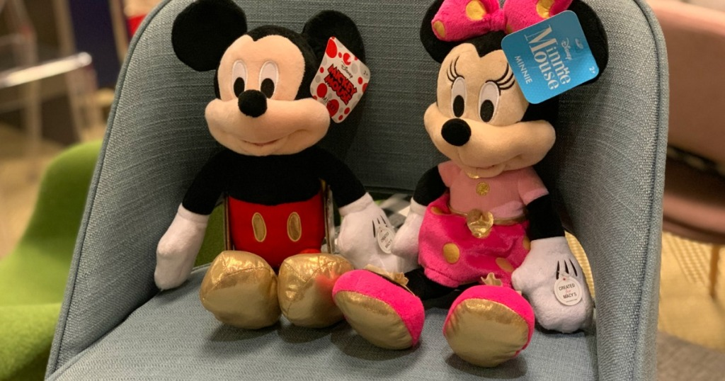 fbac3130c Disney Mickey or Minnie Mouse 16″ Plush Only $7.99 at Macy's (Regularly $30)