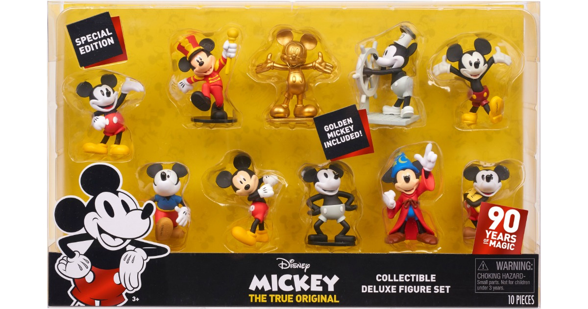 Disney Mickey/'s 90th Anniversary Deluxe Collector Figure Set Mickey Mouse