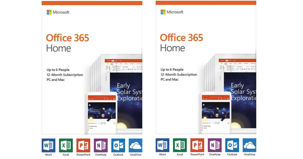 Amazon: microsoft office 365 home 12-month subscription pc/mac.