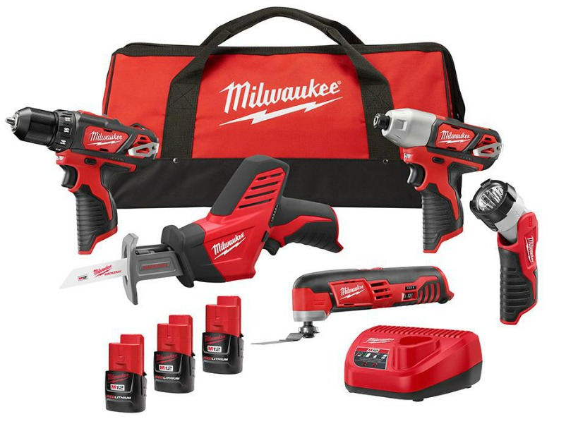 milwaukee cordless 5-tool combo kit only $199 shipped (regularly ...