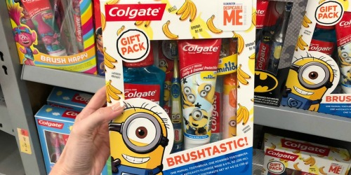 Colgate Kids Gift Packs Just $7.88 at Walmart After Ibotta (Minions, Trolls, Batman & More)