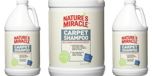 Amazon: BIG Nature's Miracle Carpet Shampoo 64oz Bottle Just $5.23 Shipped