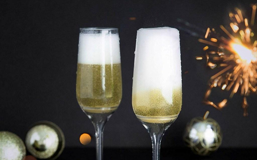 New Year Toasting Flutes