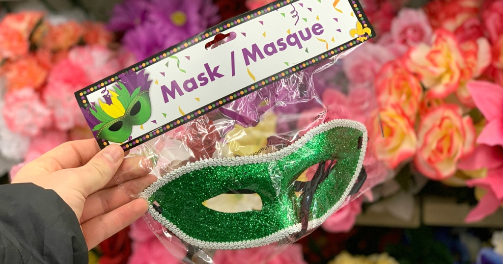 New Year's Masks at Dollar Tree