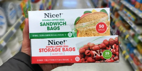 Buy 1, Get 2 Free Nice! Storage, Sandwich & Trash Bags at Walgreens (Only 93¢ Each)