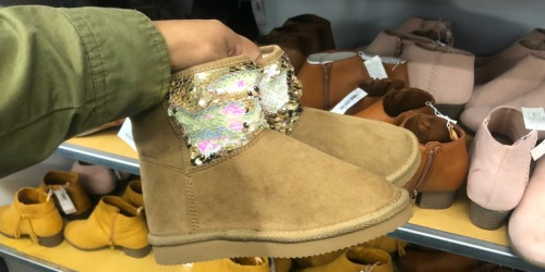 Old Navy Kids Boots & Women's Sherpa Moccasins Only $10 (Regularly up to $30) – Today Only