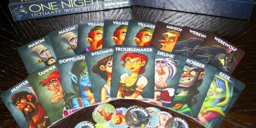 One Night Ultimate Werewolf Board Game Only $10.28 (Regularly $25)