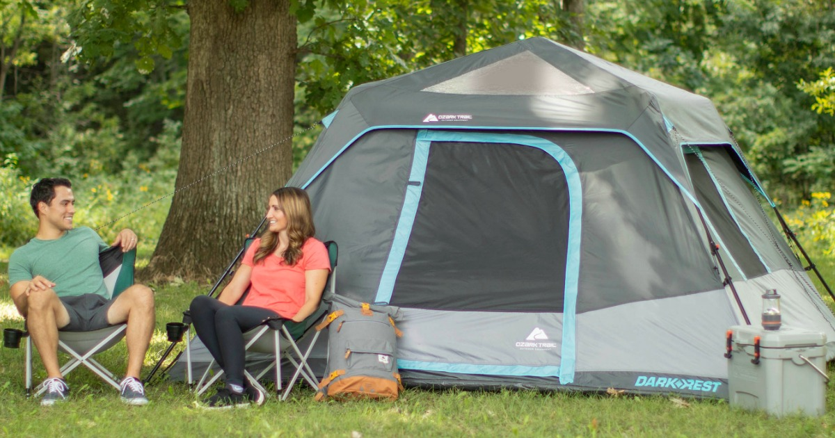 Zelte Ozark Trail 6-Person Family Dark Rest Cabin Tent New Camping