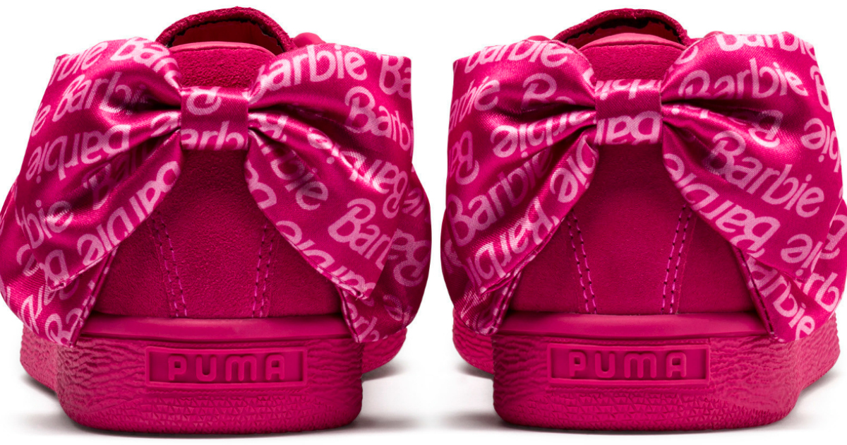 265bdd2f09d PUMA X Barbie launch new shoe doll line – pink collection sneakers