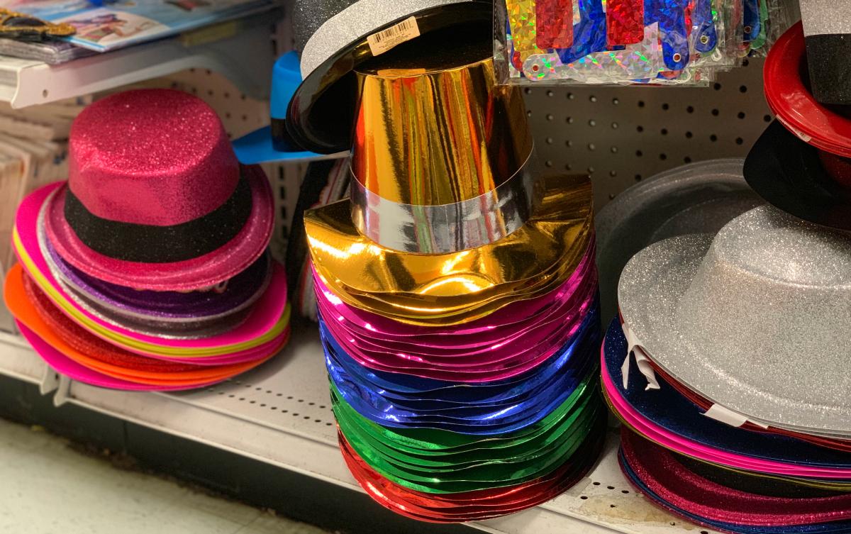 Party Hats at Dollar Tree