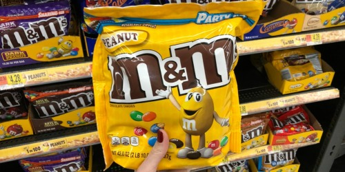 M&M's Peanut Chocolate Candy Party Size Bags 2-Pack Only $9.39 (Ships w/ $25 Amazon Order)