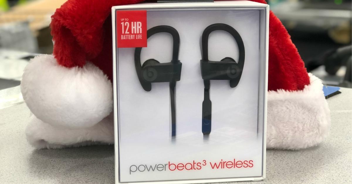 Powerbeats wireless near santa hat