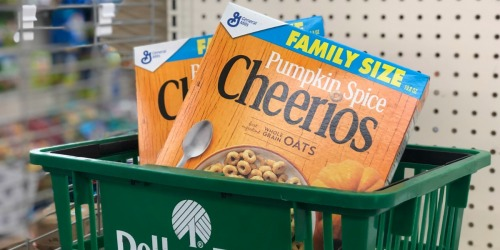 Pumpkin Spice Cheerios Family Size Boxes Just 50¢ Each at Dollar Tree